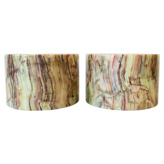 Onyx Marble Bookends For Sale