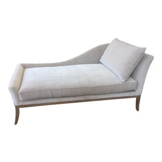Mid-Century Modern Inspired Lee Jofa Dove Gray Chaise For Sale