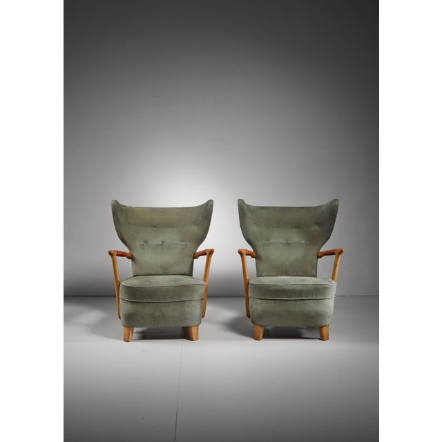 1940s Runar Engblom pair of lounge chairs, Finland, 1940s For Sale - Image 5 of 7