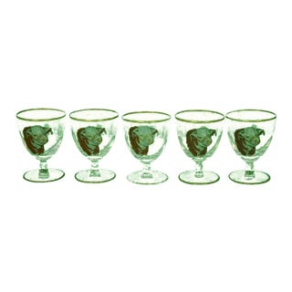 1950s Vintage Frank Vosmansky Hereford Cordial Glasses - Set of 5