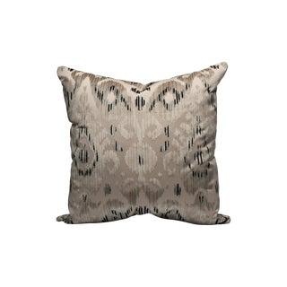Scalamandre Tashkent Velvet Pillow, Smoke For Sale