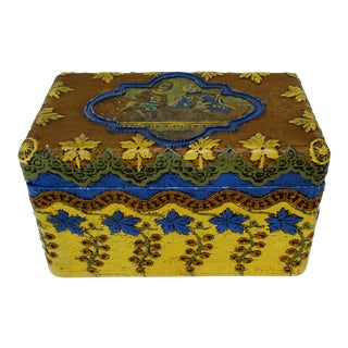 Handmade Box with Decoupage Image For Sale