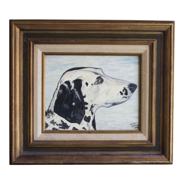 1966 Vintage Dalmatian Oil Painting - Image 1 of 8