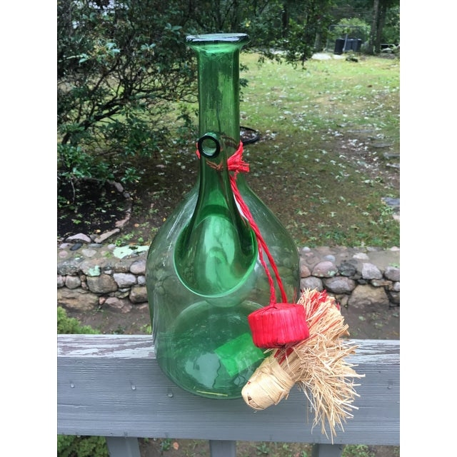Italian Green Glass Wine Carafe Chiller - Image 6 of 6