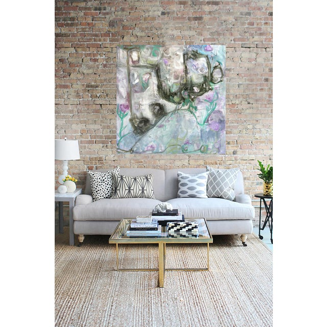 """Trixie Pitts's """"Monkey Business"""" Large Abstract Painting - Image 5 of 6"""