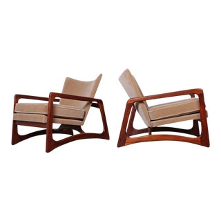 Pair of Lounge Chairs by Adrian Pearsall For Sale