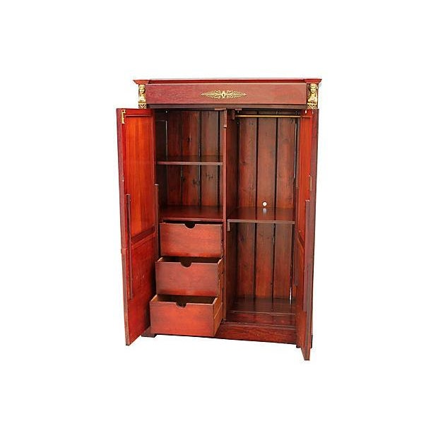 Neoclassical 1920s Red Armoire - Image 7 of 7