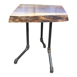 Organic Modern Live Edge Side/End Table For Sale