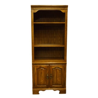 """Kincaid Furniture Solid Walnut 30"""" Cabinet Bookcase For Sale"""