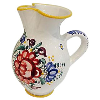 Hand-Painted Mediterranean Style Pitcher