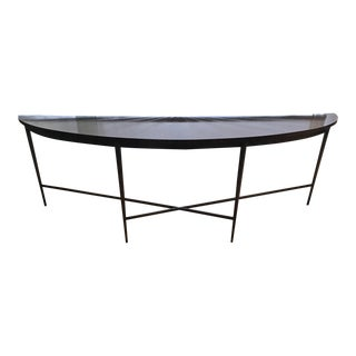 Modern McGuire Demilune Console Table For Sale