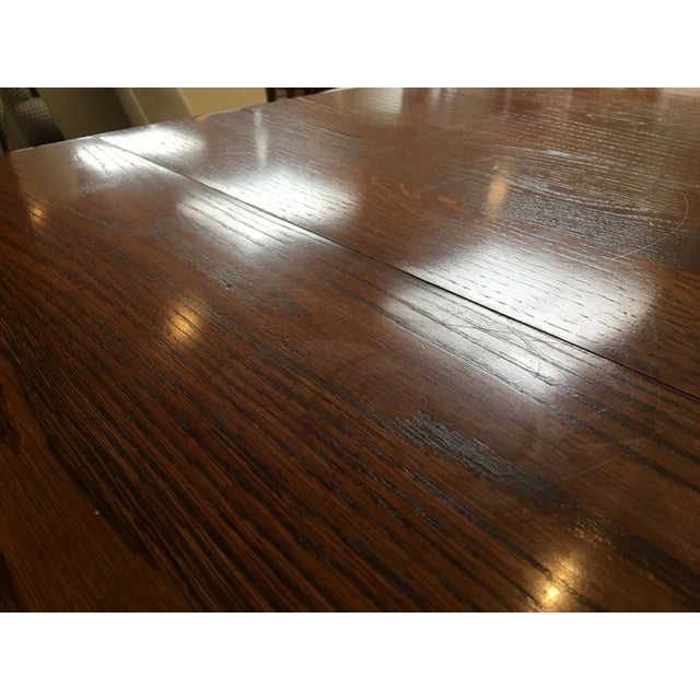 Oak Dining Table With Queen Anne Legs For Sale - Image 11 of 11