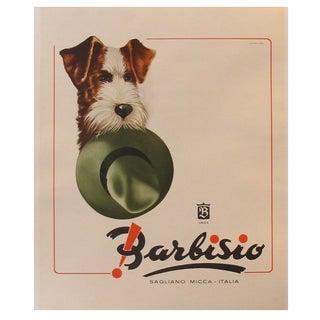 Vintage Italian Barbisio Hat Poster