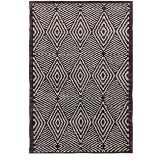 Hand-Knotted Modern Wool Rug - 4′1″ × 6′2″ For Sale