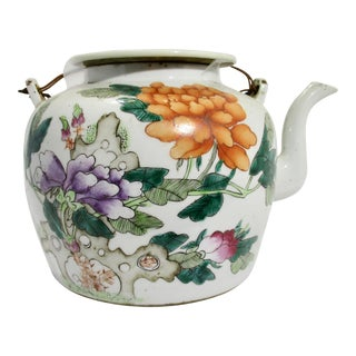 Chinese Qing Teapot With Wire Handles For Sale