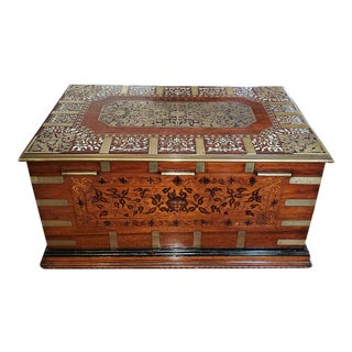 19c Anglo Indian Stationery Campaign Chest - Outstanding For Sale