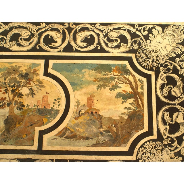 Mid 18th Century Contemporary Coffee Table With 18th C. Italian Neoclassical Top For Sale - Image 5 of 6