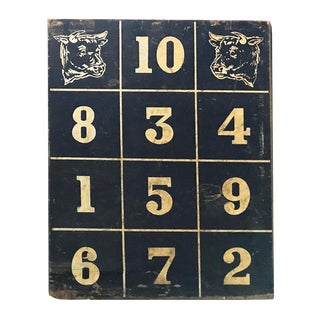 Vintage Cow Motif Scoreboard For Sale
