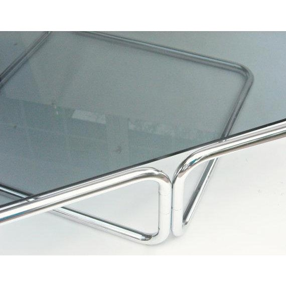 Mid Century Coffee Table Chrome Jerry Johnson - Image 3 of 5