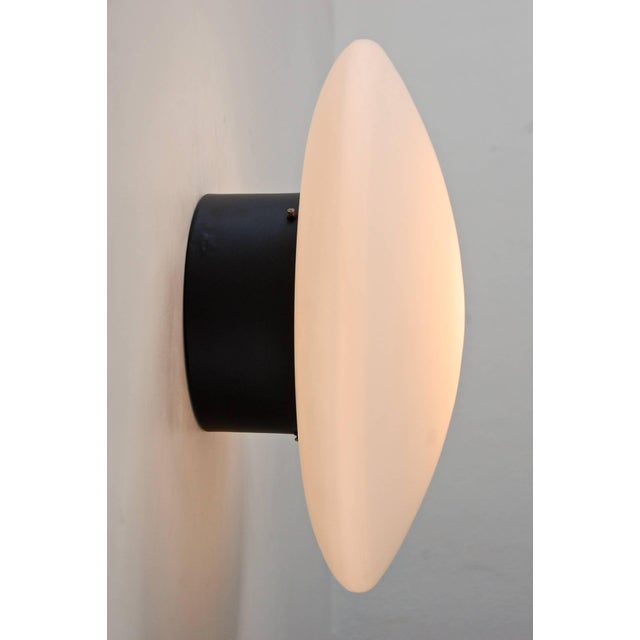 Mid-Century Modern Large Arteluce Attributed Flush Mount For Sale - Image 3 of 10