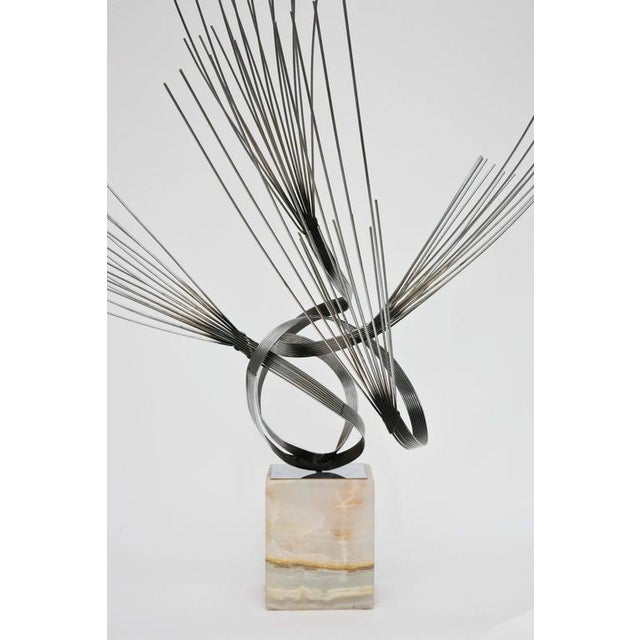 Large Curtis Jere Spirited Wire Table Sculpture For Sale - Image 9 of 9