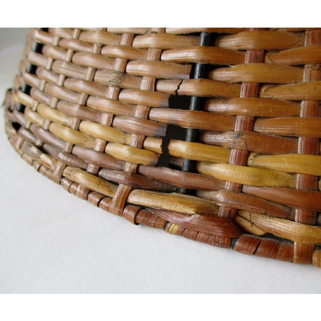 Mid 20th Century Wicker Uno Lamp Shade For Sale - Image 5 of 8