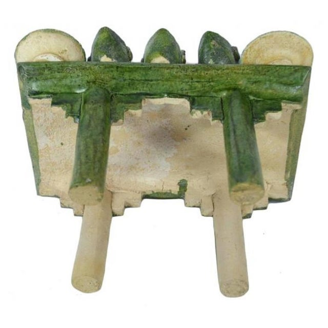 Green Ming Dynasty Terracotta Funeral Table from China, 15th-16th Century For Sale - Image 8 of 10