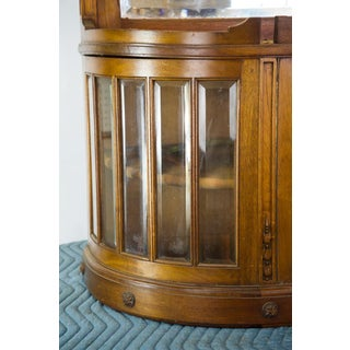 Vintage French Oak Breakfront Display Cabinet Preview