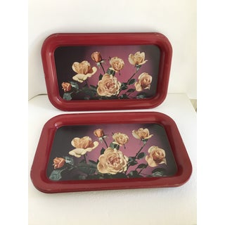 Mid Century Serving Decor Rose Trays - Set of 6 Preview