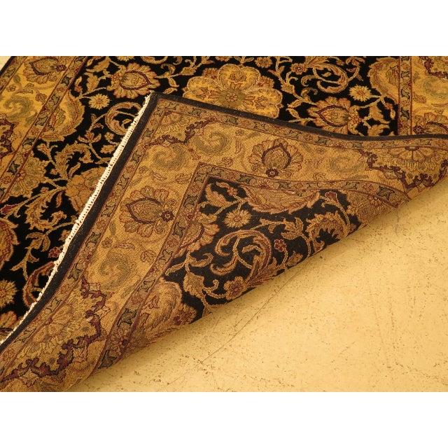 Black Vintage Black & Gold Wool Rug - 6' X 9' For Sale - Image 8 of 11
