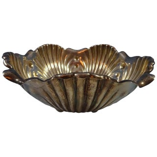 Whiting Sterling Silver Salad Bowl Repoussed Lettuce Leaf #252 For Sale