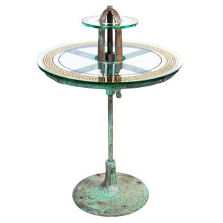 Industrial Two-Tier Bistro Table For Sale