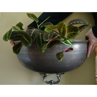 """Antique English Silver Plate """"Meat Dome Half"""" Wall Flower Planter Preview"""