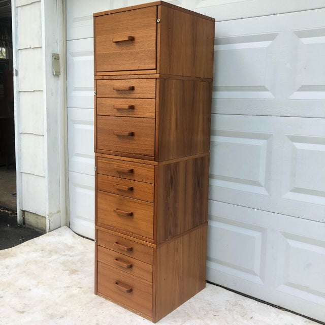 Danish Modern Scandinavian Modern Teak Filing Cabinet From Jesper For Sale - Image 3 of 13
