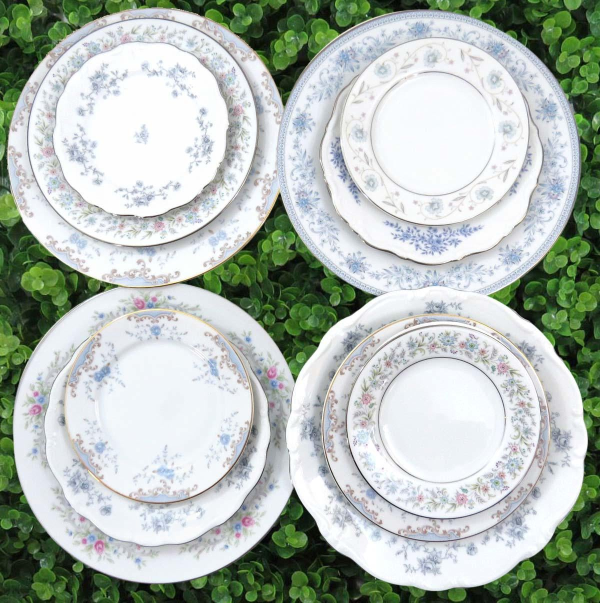 Vintage Mismatched Fine China Dinnerware Set - Service for 4 - Image 2 of 11  sc 1 st  Chairish & Vintage Mismatched Fine China Dinnerware Set - Service for 4 | Chairish