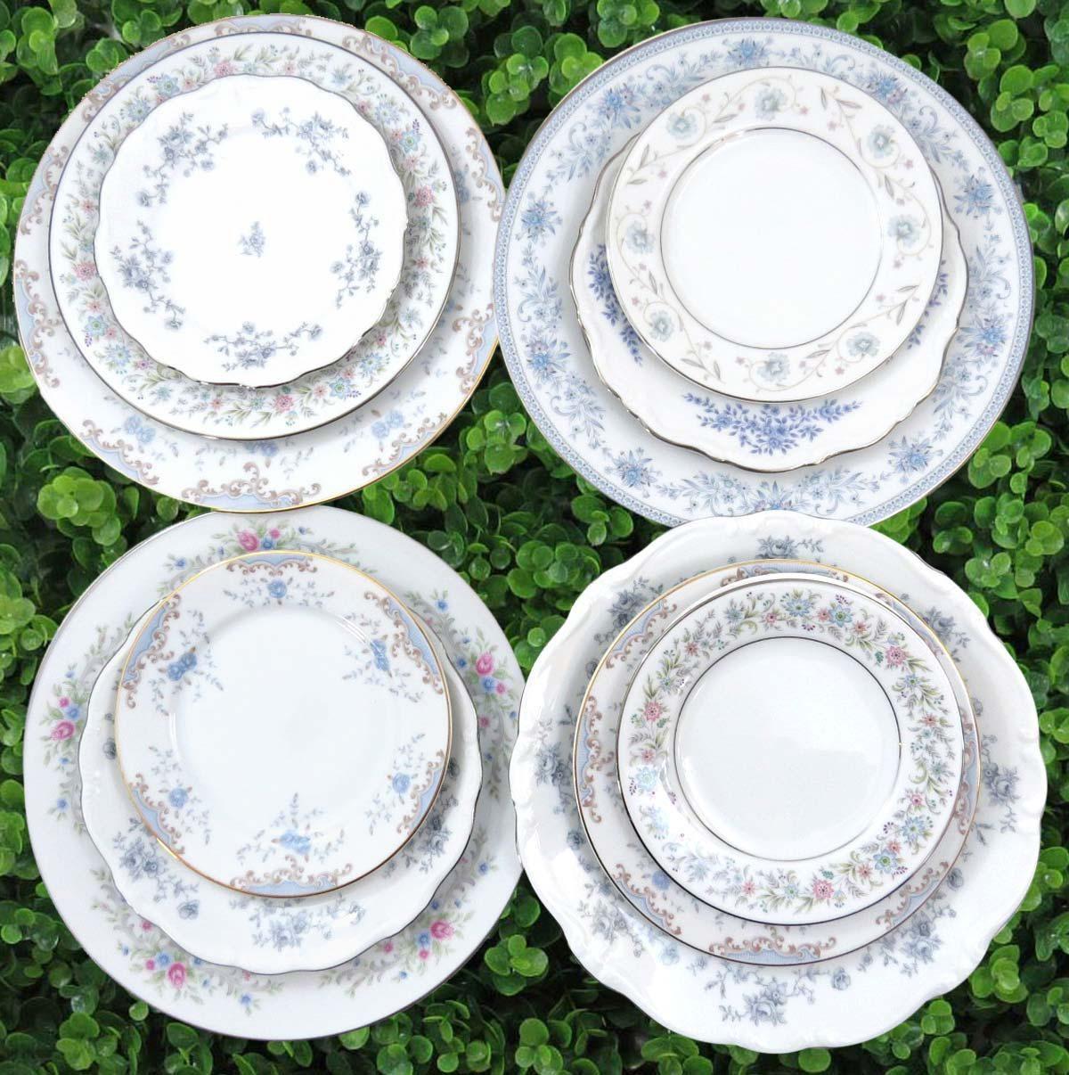 Vintage Mismatched Fine China Dinnerware Set - Service for 4 - Image 2 of 11  sc 1 st  Chairish & Vintage Mismatched Fine China Dinnerware Set - Service for 4 | Chairish