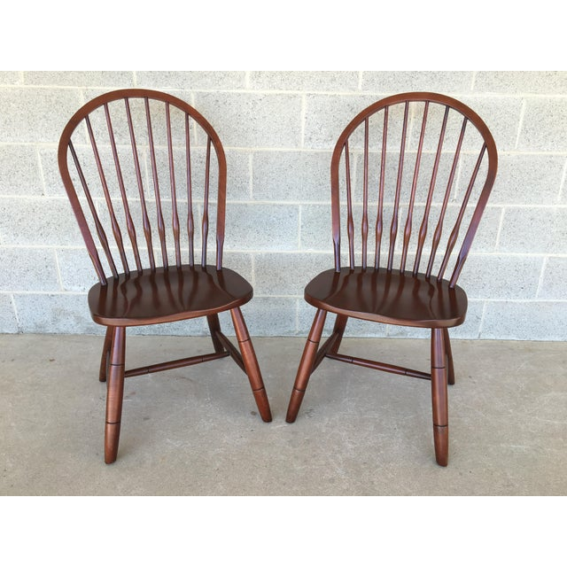 Modern Ethan Allen New Country Hoop Back Gilbert Side Chairs- A Pair For Sale - Image 12 of 12
