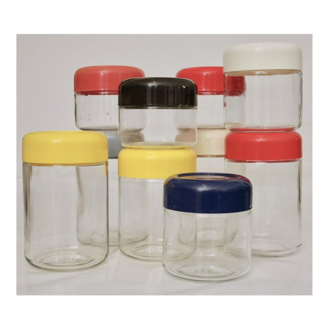Massimo Vignelli Collection of Glass Storage Jars - Set of 10 - Image 2 of 7