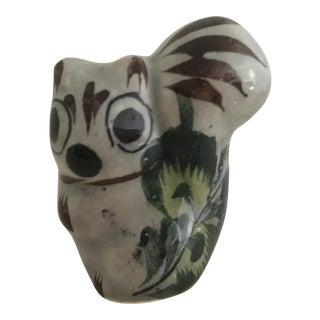 Vintage Mexican Tonala Pottery Squirrel