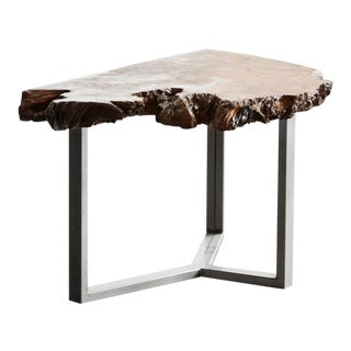 Modernist Redwood Burl Coffee Table Custom Made by Rehab Vintage For Sale