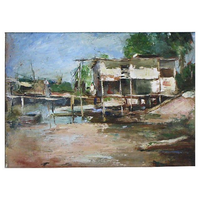 Impressionism Florida Coastal Scene Oil Painting For Sale - Image 3 of 4