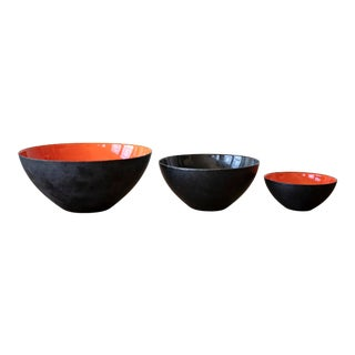 1950s Vintage Herbert Krenchel for Krenit Danish Design Bowls- Set of 3 For Sale