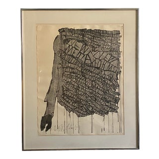 Claes Oldenburg New Media New Forms Signed, Numbered Lithograph in Frame For Sale