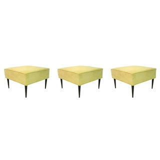 Set of Three Square Stools by Martin, Brahrus of California, Circa 1960s For Sale