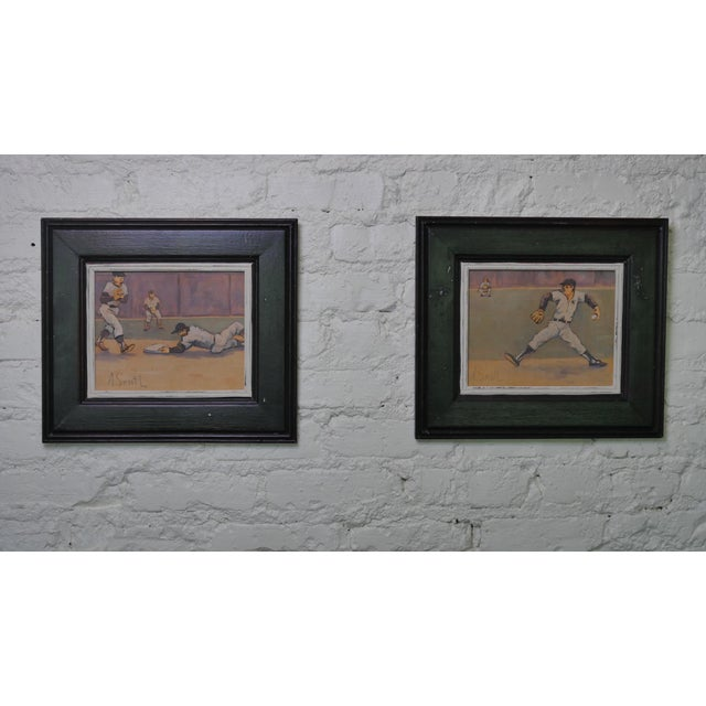 Arthur Smith Baseball Watercolors From 'Baseball' Series - A Pair For Sale - Image 11 of 11