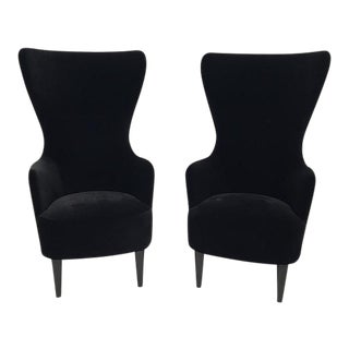 Pair of Tom Dixon Wingback Chairs For Sale