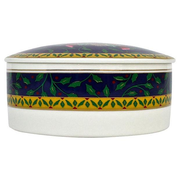 Cottage Mikasa Ceramic Trinket Box For Sale - Image 3 of 5