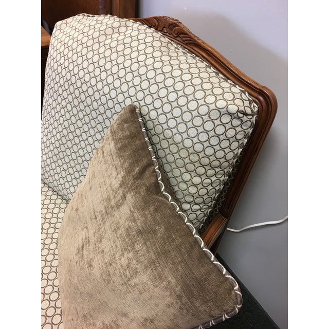 French Country Baker Upholstered Chair & Ottoman - Image 8 of 10