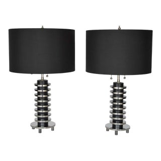 1960s Table Lamps by Donald Deskey - a Pair For Sale