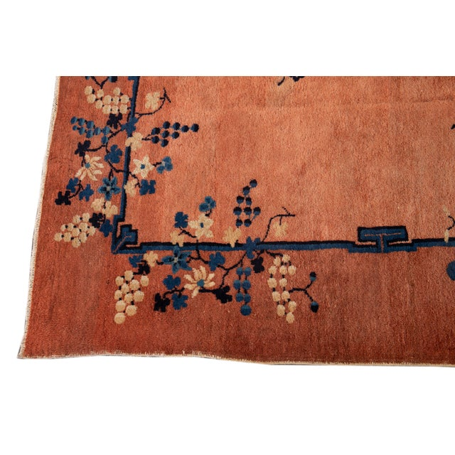 Early 20th Century Antique Art Deco Chinese Wool Rug 9 X 15 For Sale - Image 11 of 13